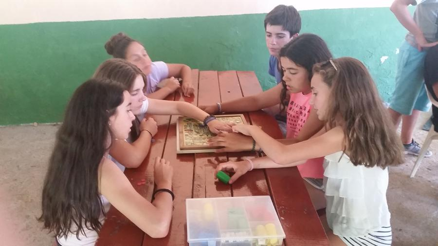 Juegos de mesa campamento