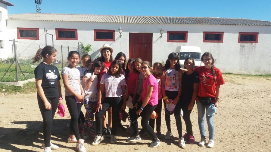 Niños en actividades campamento Riaza 2017