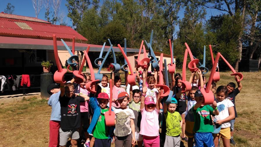 Esgrima Niños en actividades campamento Riaza 2017