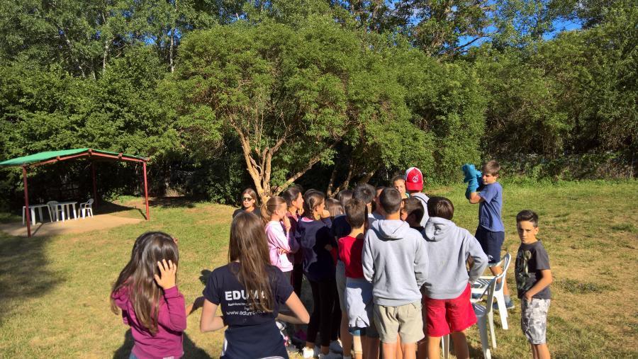 Grupo de niños campamento Riaza 2017