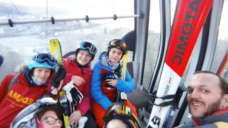 esqui infantil, juvenil, adulto y en familia