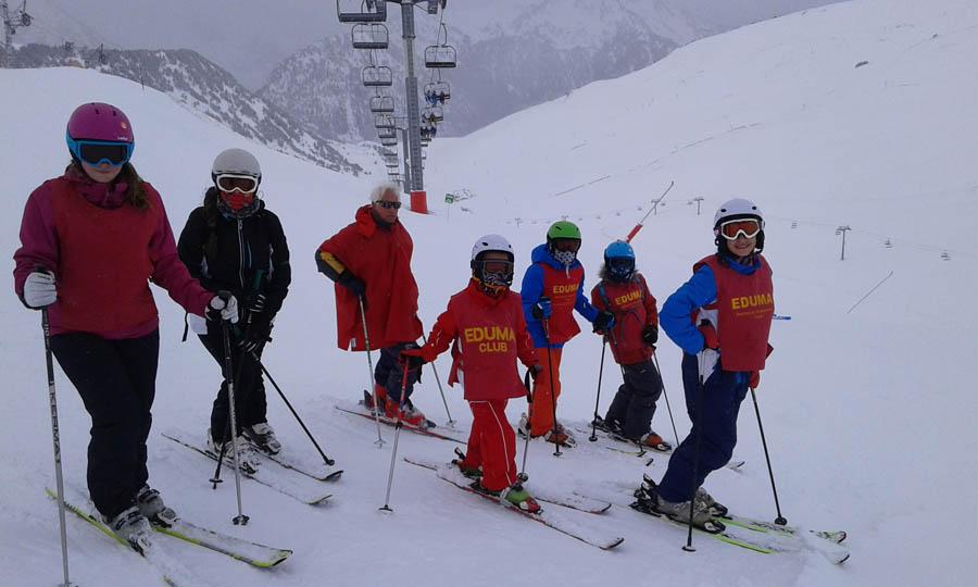 clases de ski en la semana de reyes