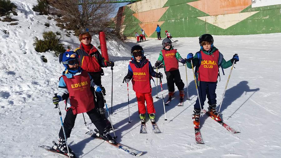 clases de ski los fines de semana