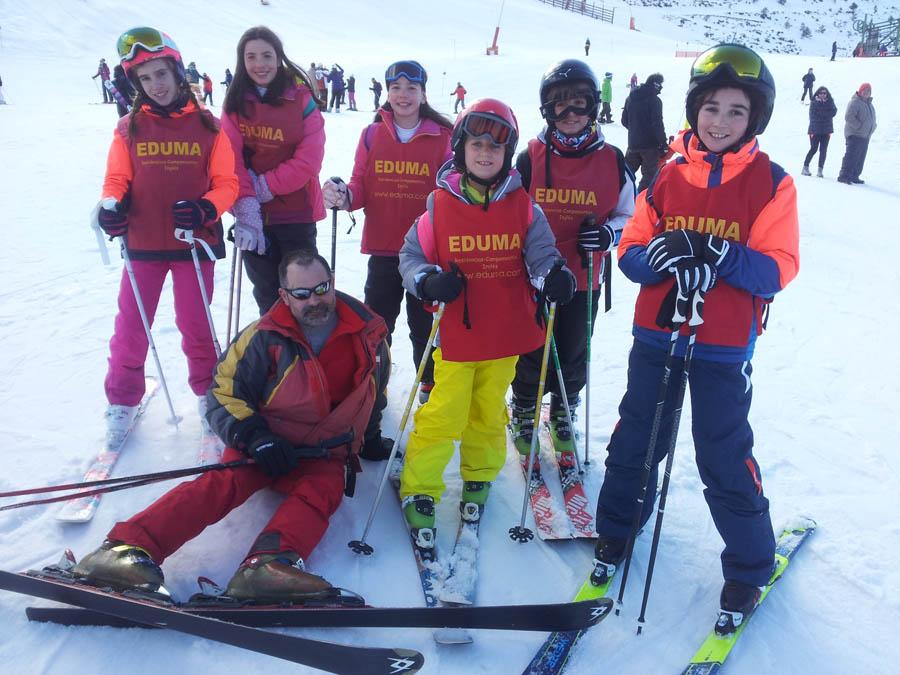 aprender a skiar los fines de semana