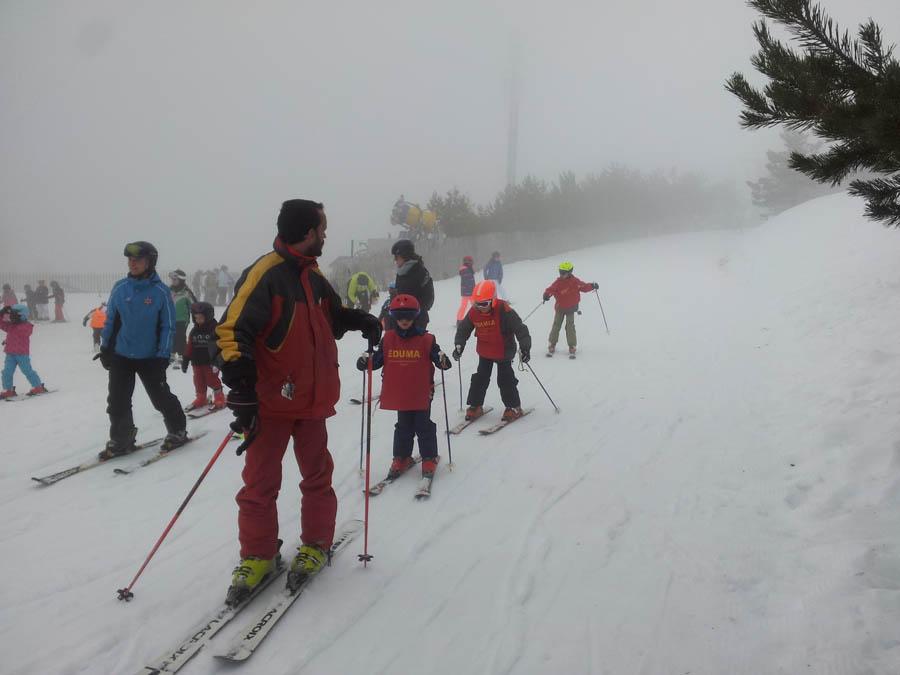 Aprender a esquiar en la sierra de madrid