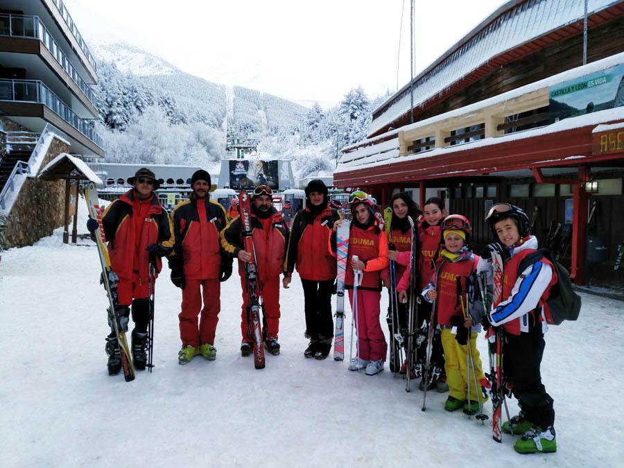 cursillos de esqui los fines de semana