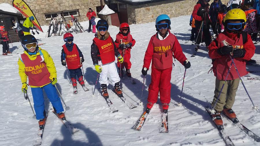 clases de esqui en valdesqui