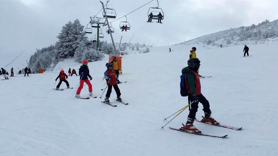 cursos de ski en la sierra de madrid