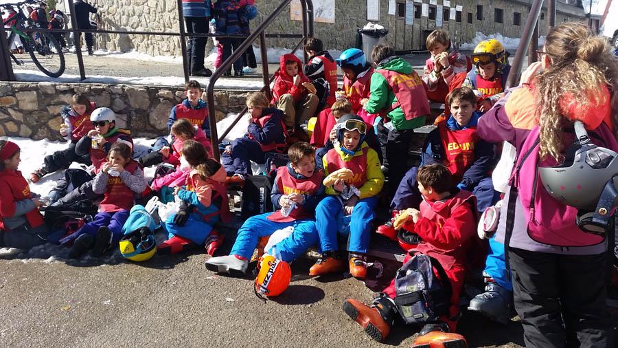 cursillo de ski en vacaciones escolares