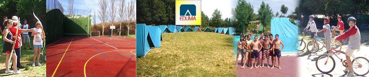 Campamento de verano en Madrid, España. Tiendas. Barato.
