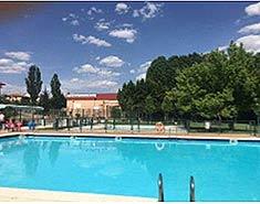 Campamento de verano en Segovia. Sepúlveda. Colonia de vacaciones. España.