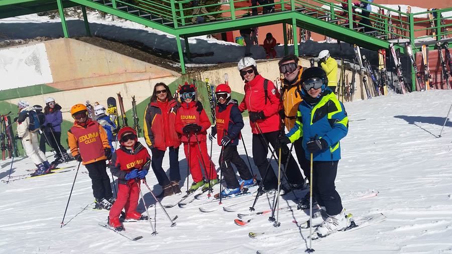 Cursos y clases de esqui los sábados en la pinilla