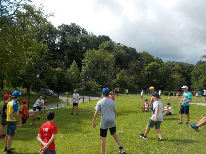 rugby en el campamento