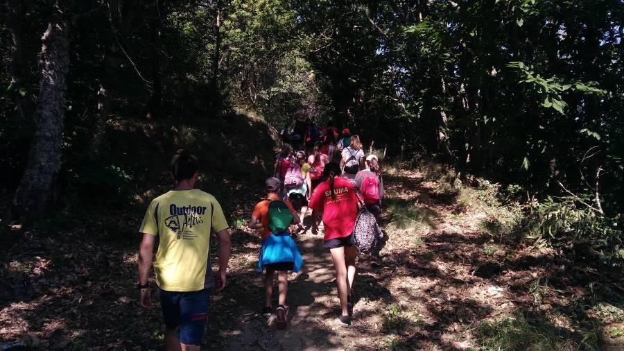 excursión en la sierra de Béjar