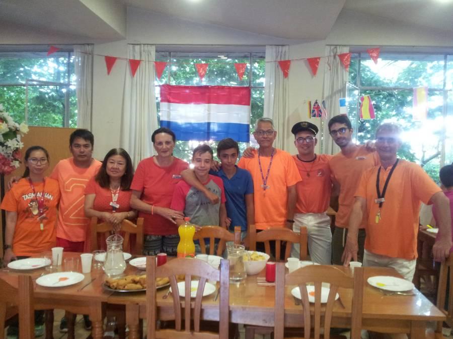 día de Holanda en el campamento de Salamanca