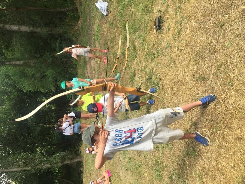 arco en el campamento