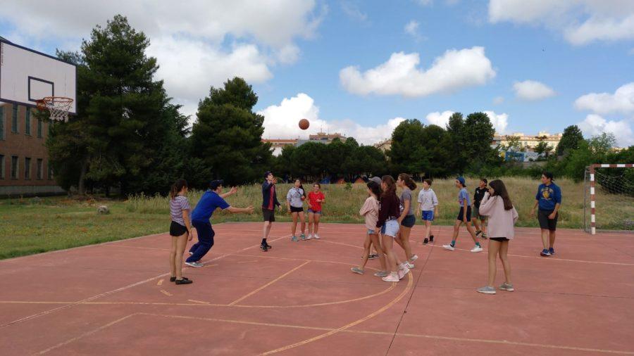 baloncesto en el campamento Summer Camp