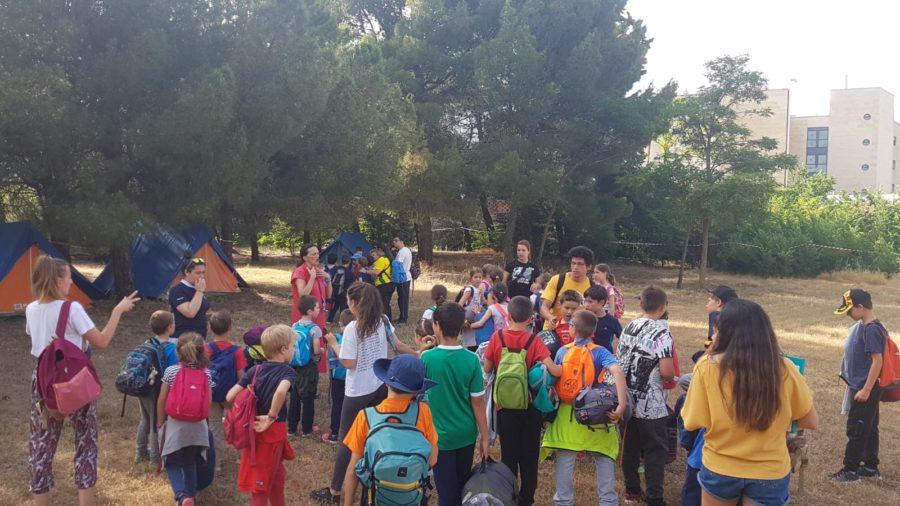 Campamento en Salamanca con tiendas