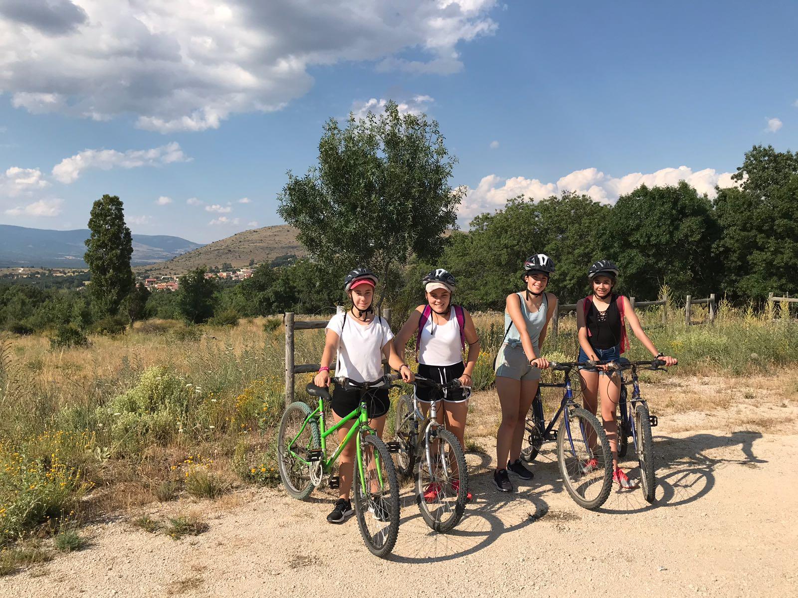 ruta en bici campamento madrid