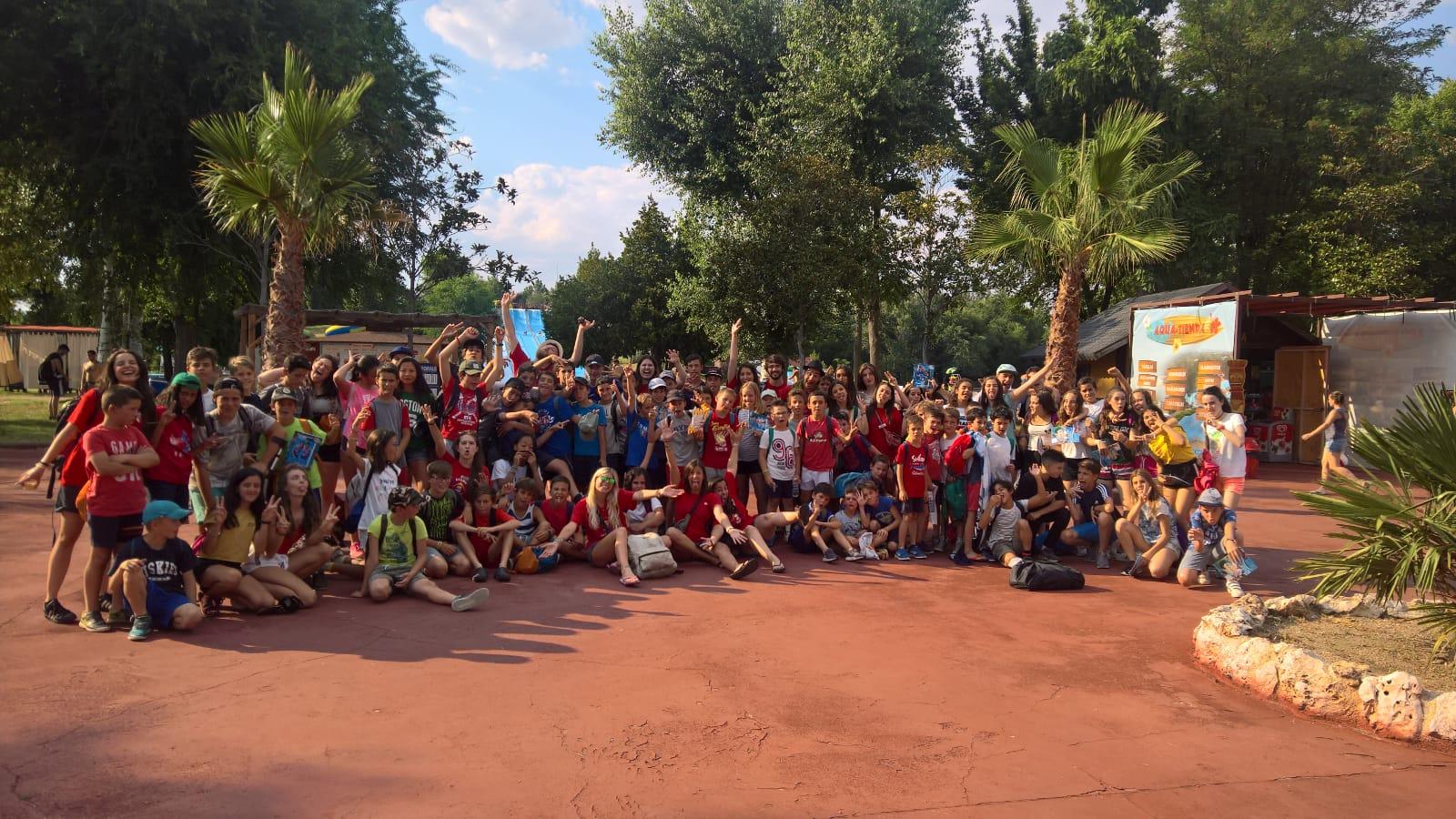 dia de aquopolis en campamento Madrid