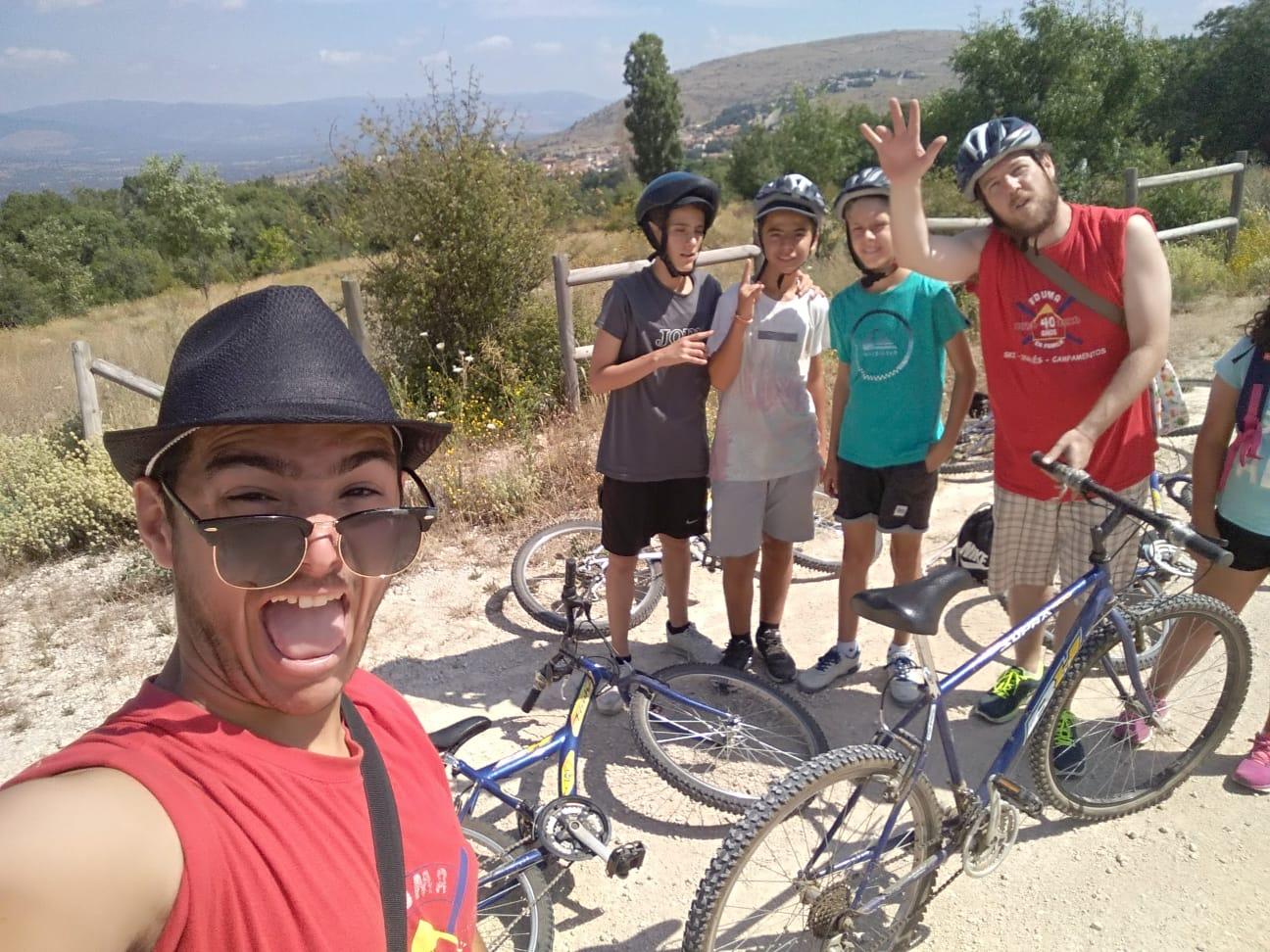 Ruta en bici cerca de madrid