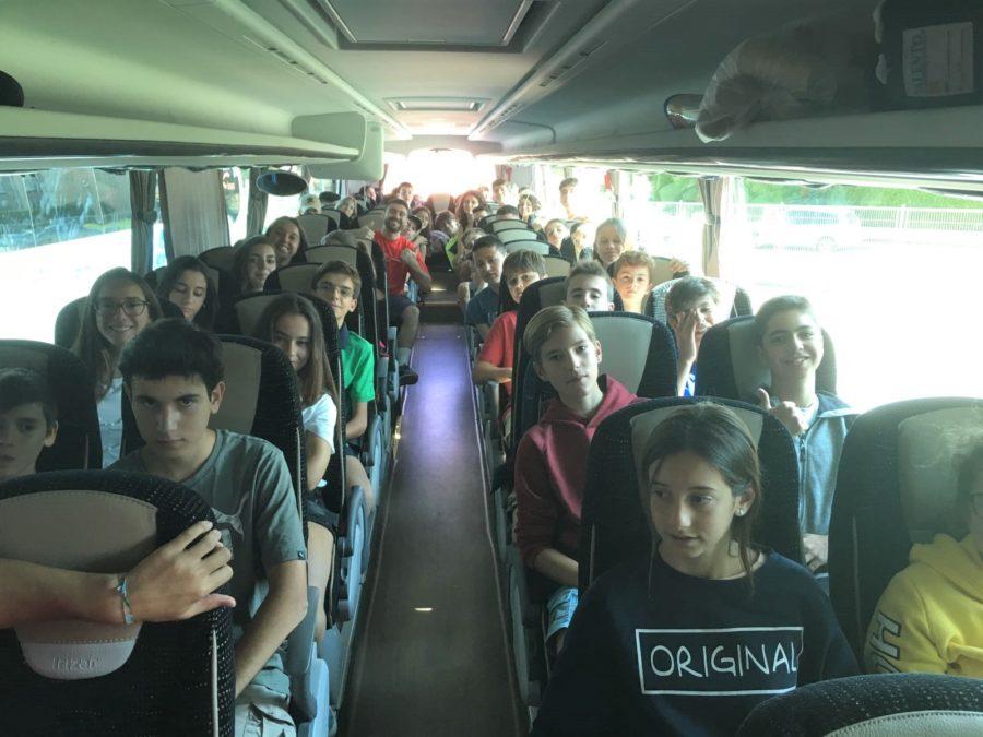 Excursion autobús niños