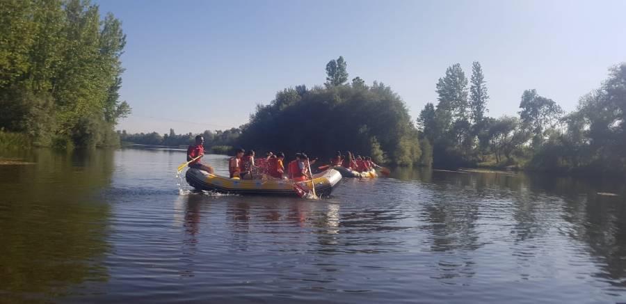 Rio Tormes campamento rafting