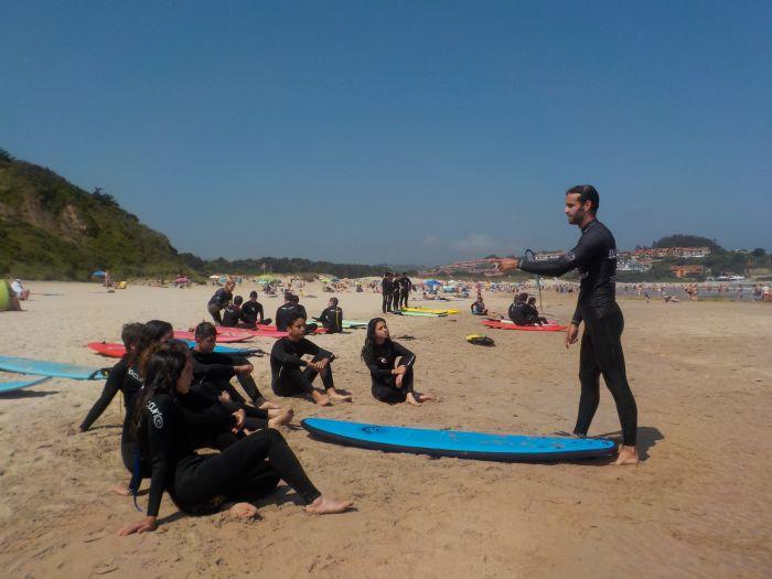 explicación de surf campamentos