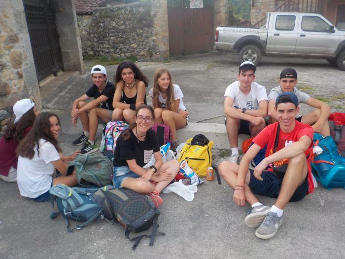 excursión en el campamento de Asturias