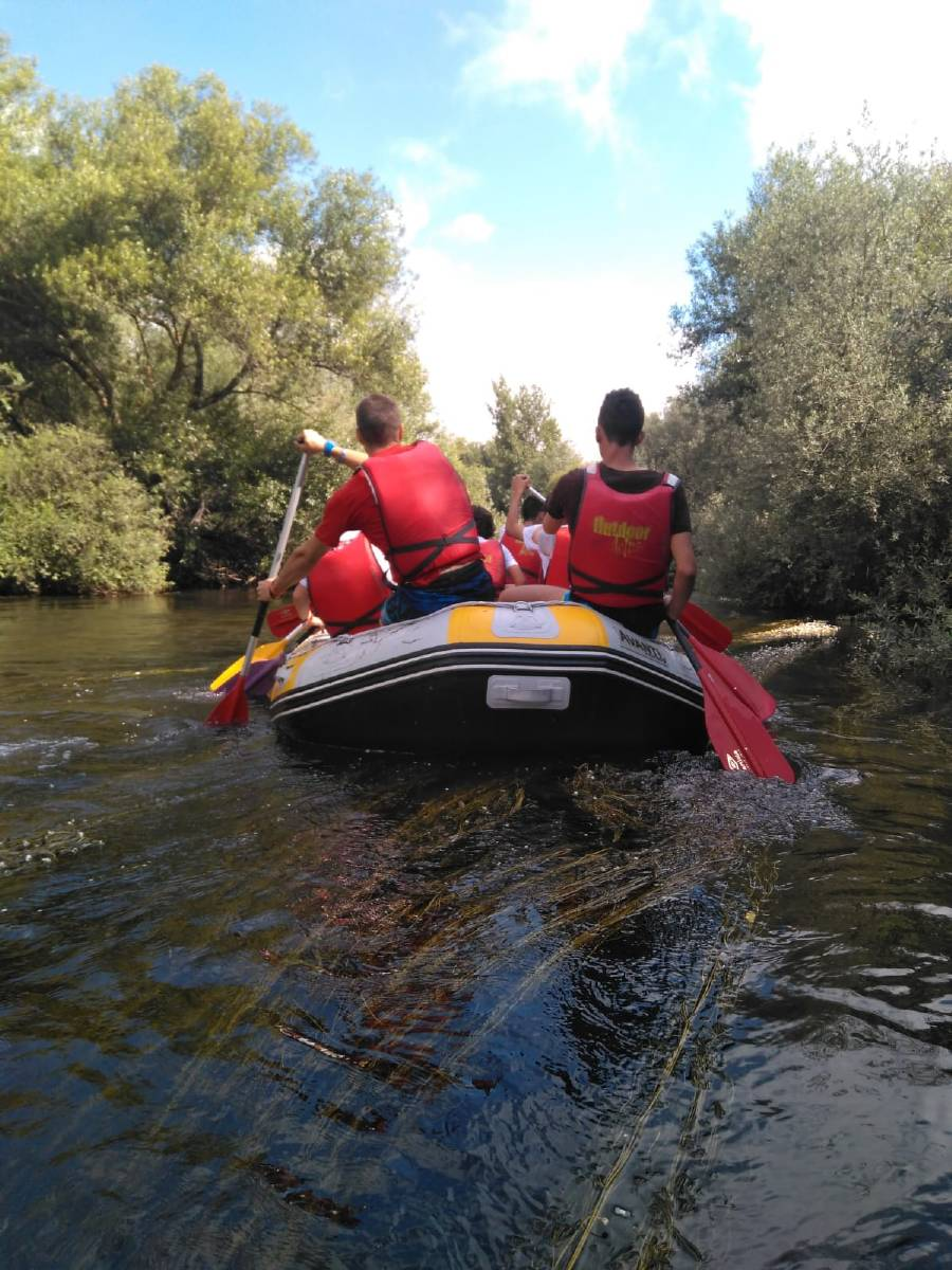 Rafting campamento en el Tormes