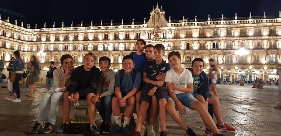 disfrutando de Salamanca nocturna
