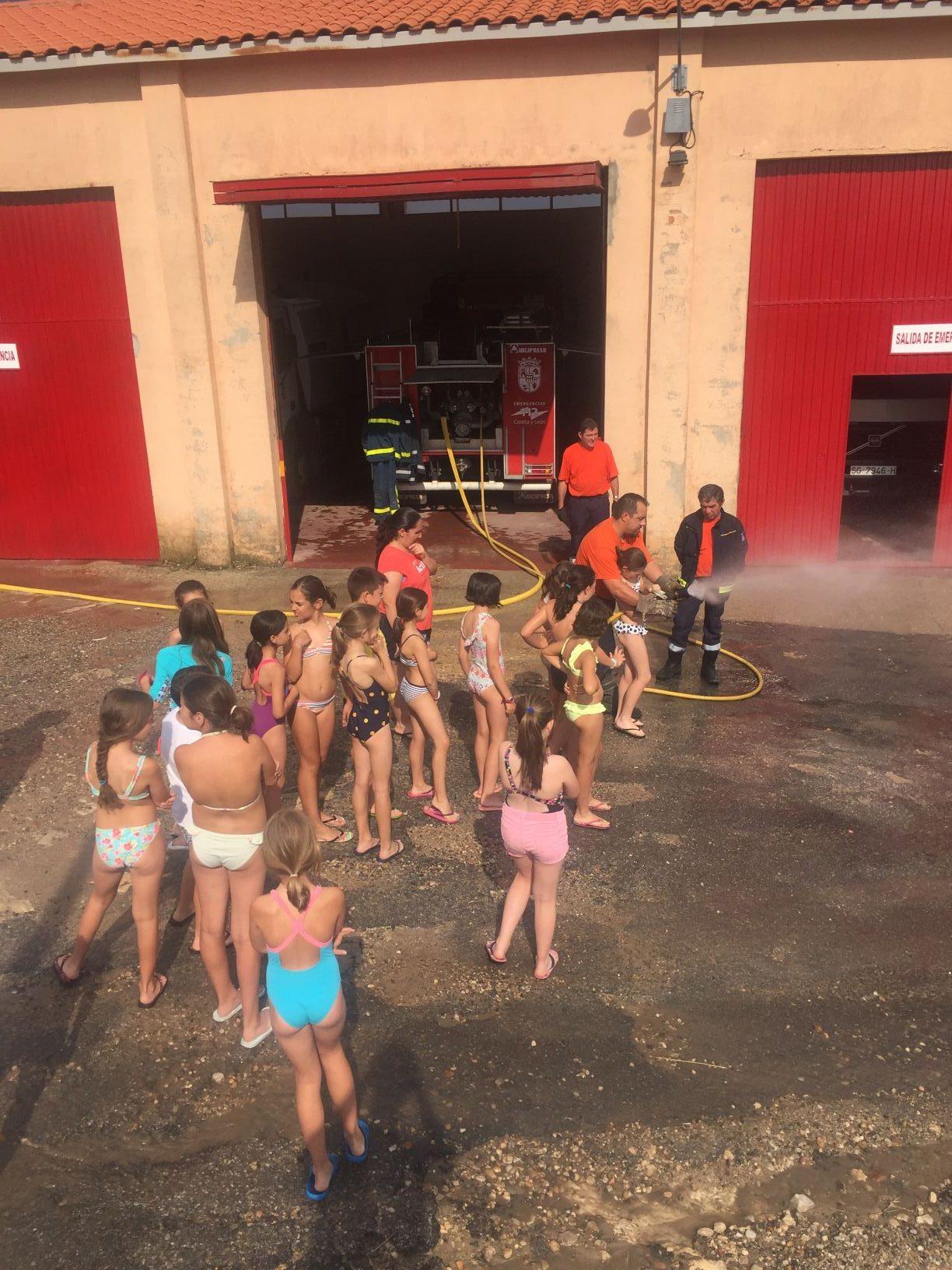 visita a bomberos en Sepúlveda