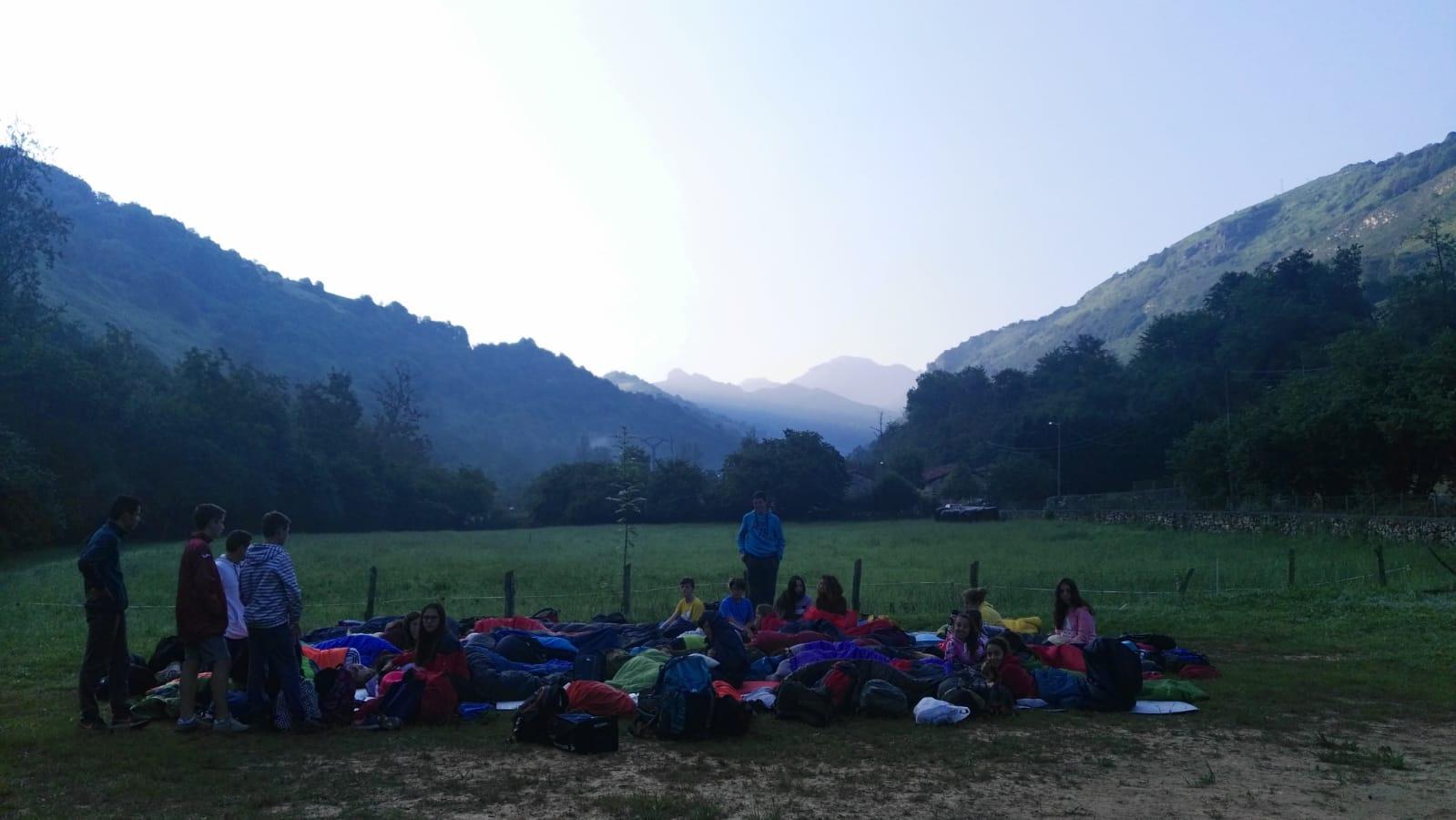 amanece de vivac en Asturias