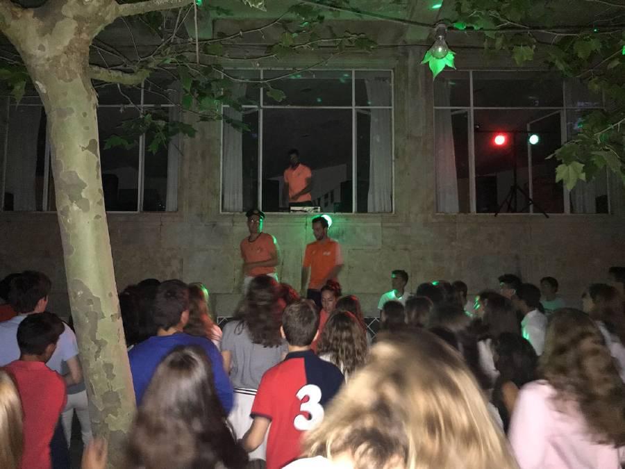 coreografías en el campamento