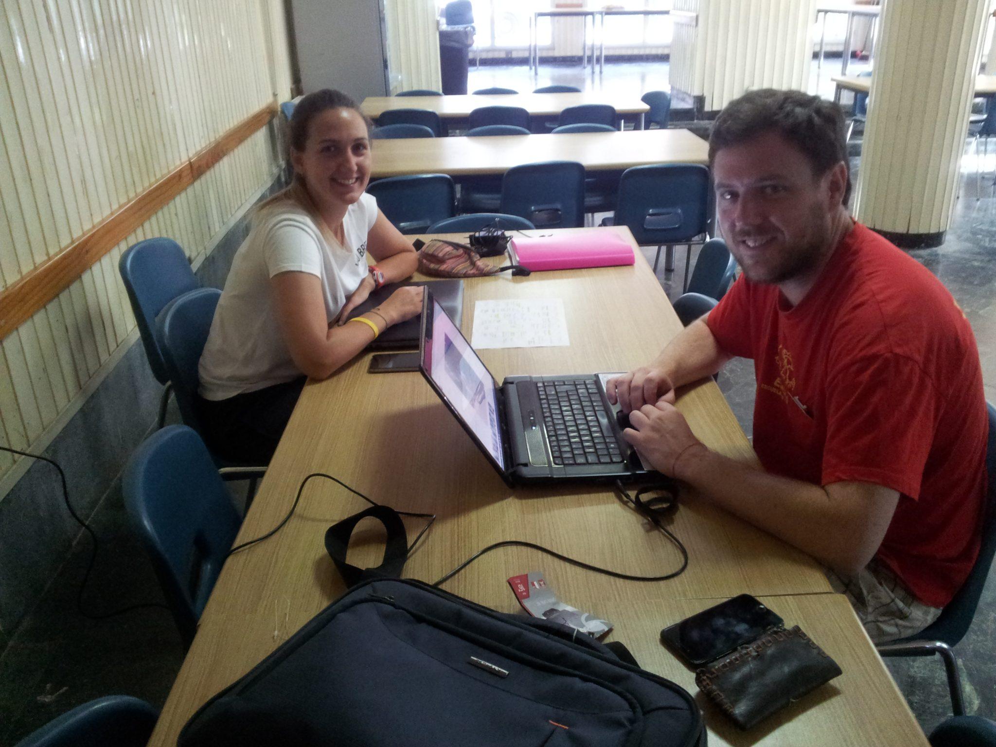 Coordinadores trabajando