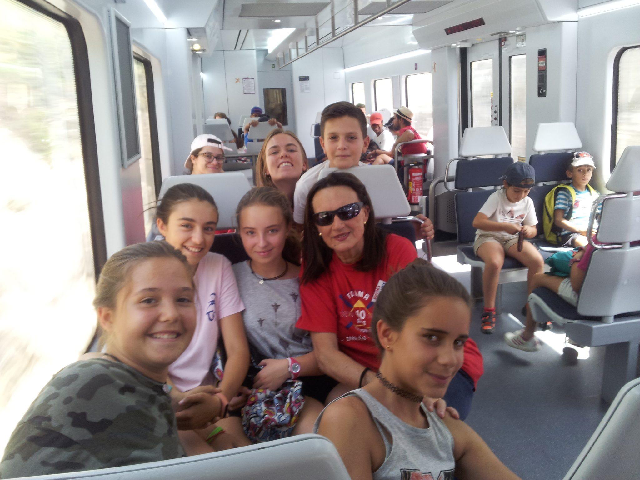 en el tren a Cercedilla