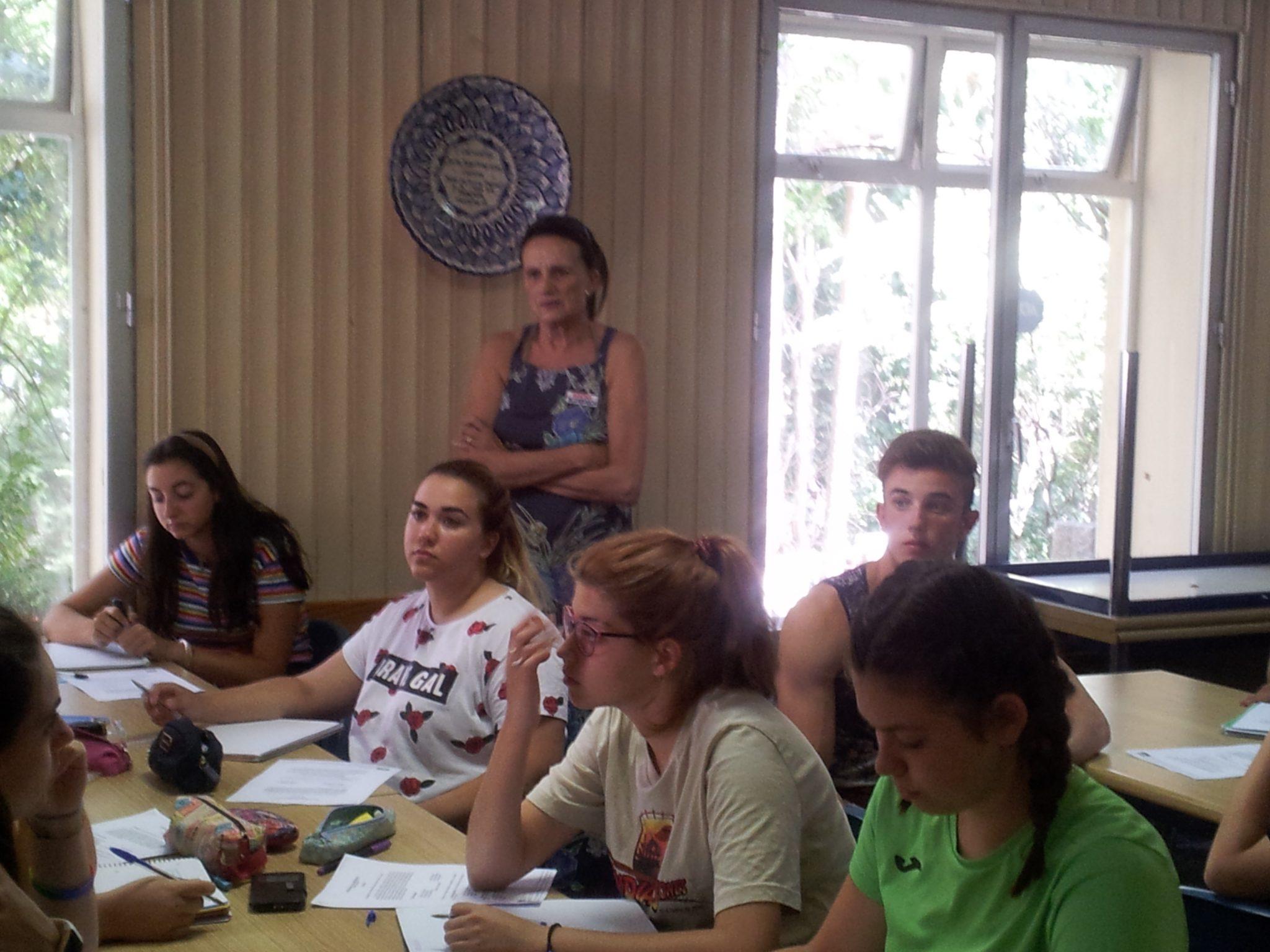 Clases teóricas en Guadarrama agosto