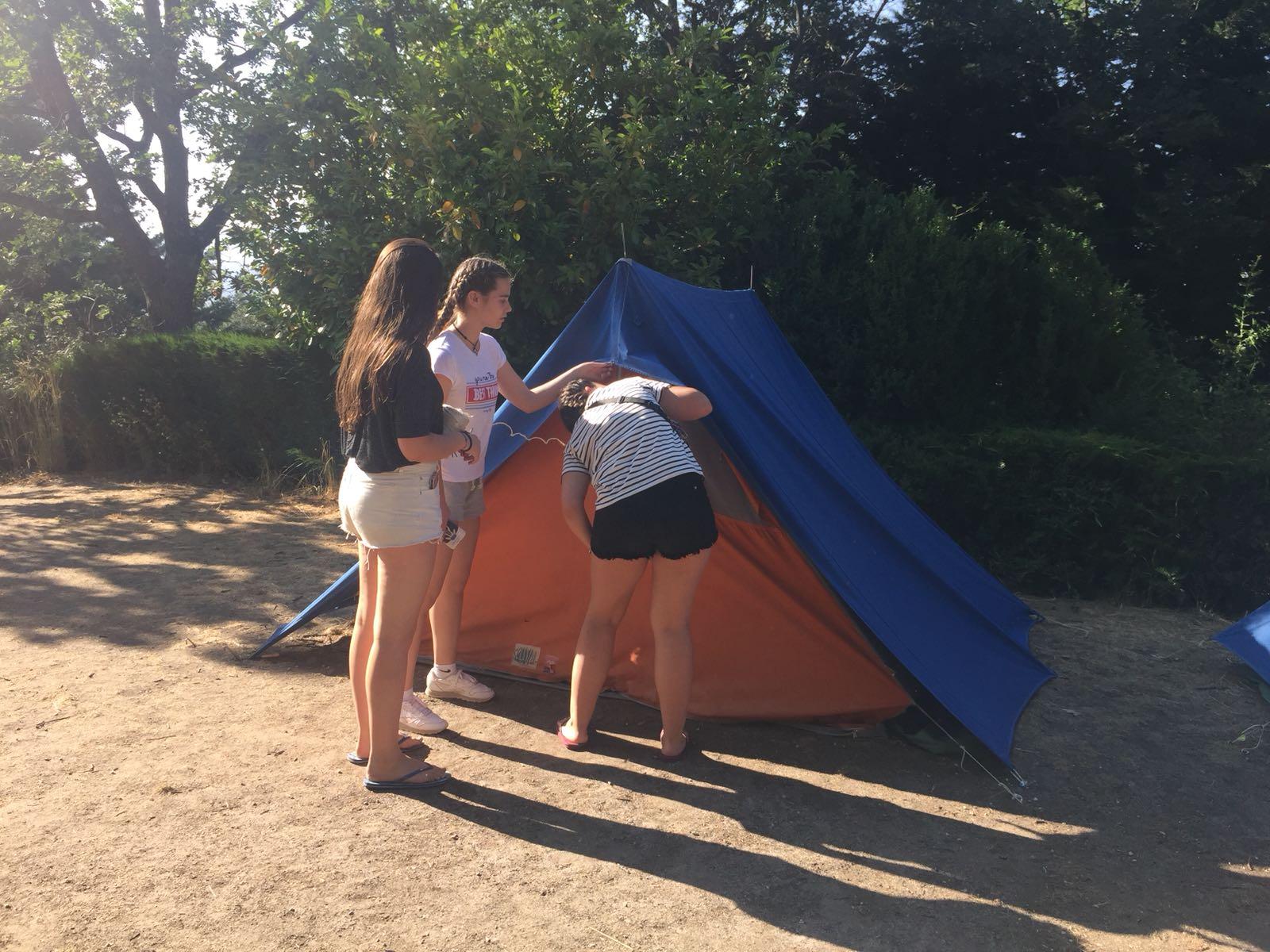 taller de campamento