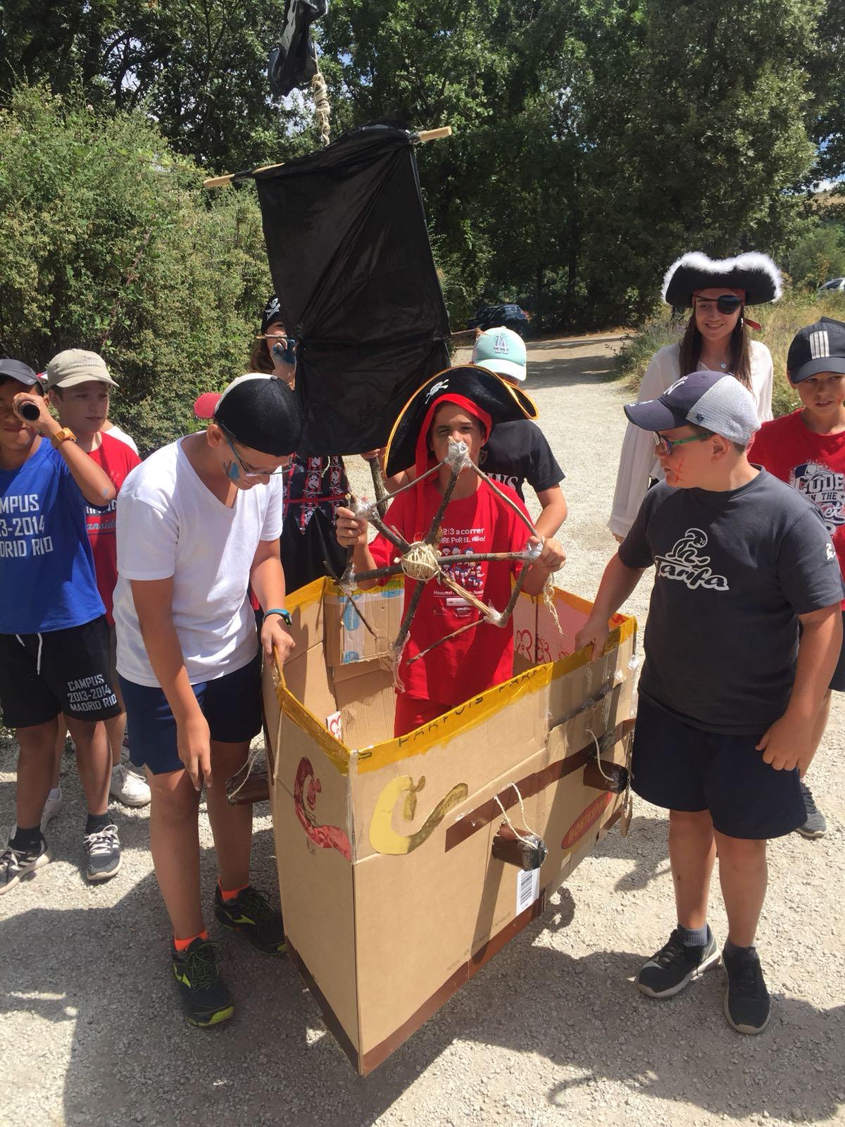 Dia tematico pirata campamento