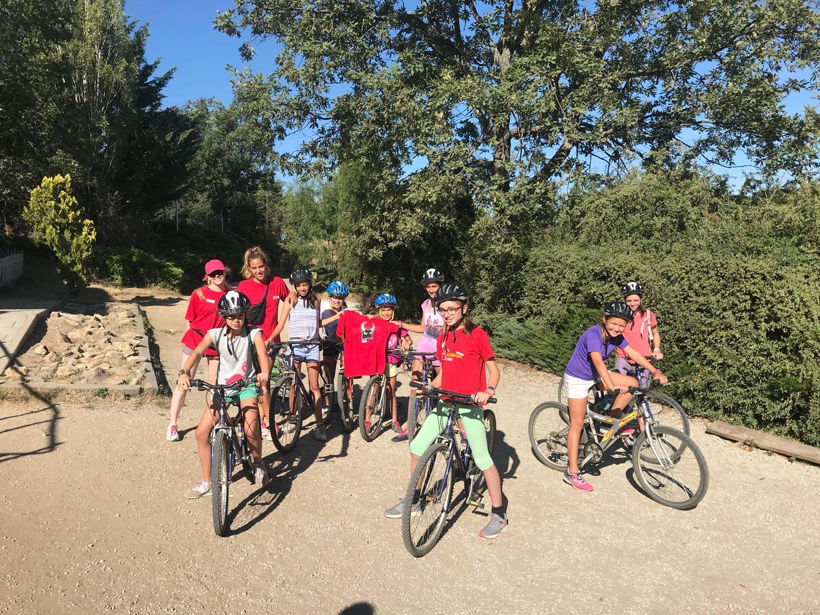 Ruta en bicicleta campamentos