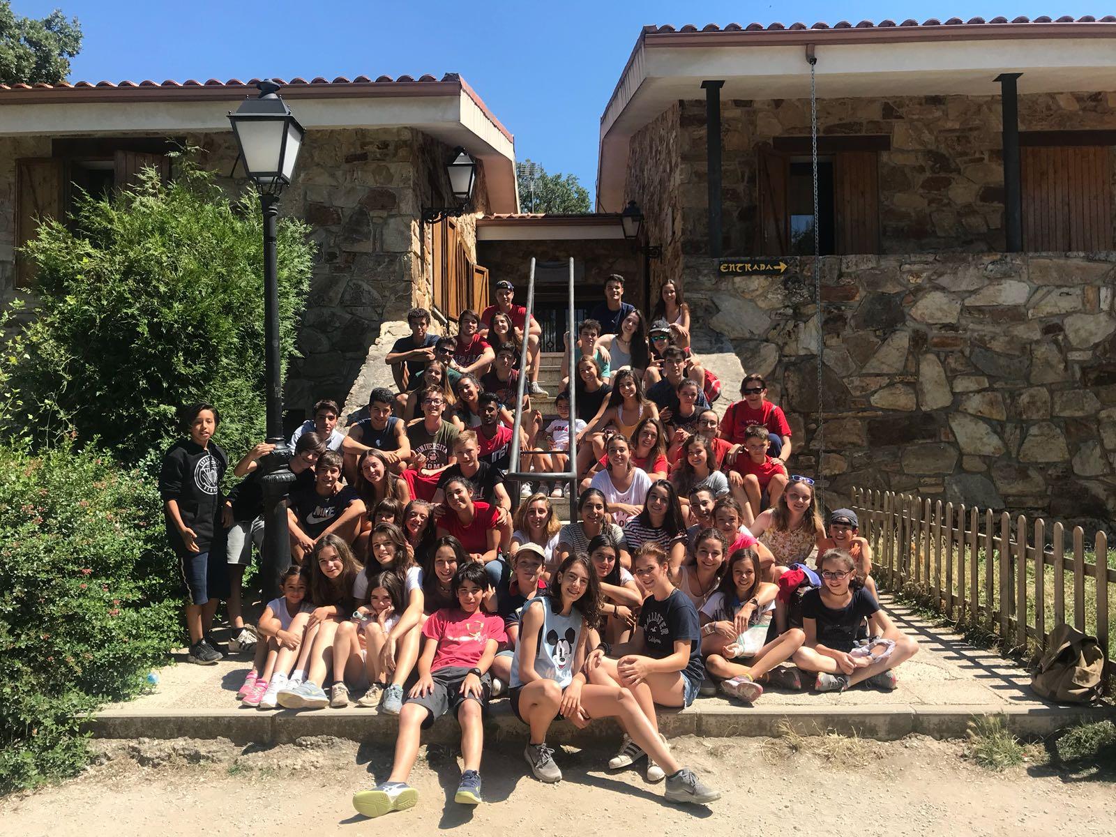 Grupo de campamento verano Madrid