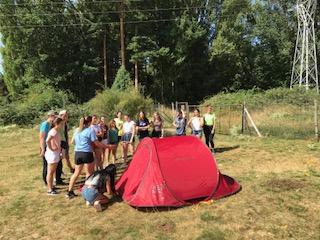 Montaje de campamentos