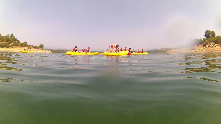 piraguas desde el agua