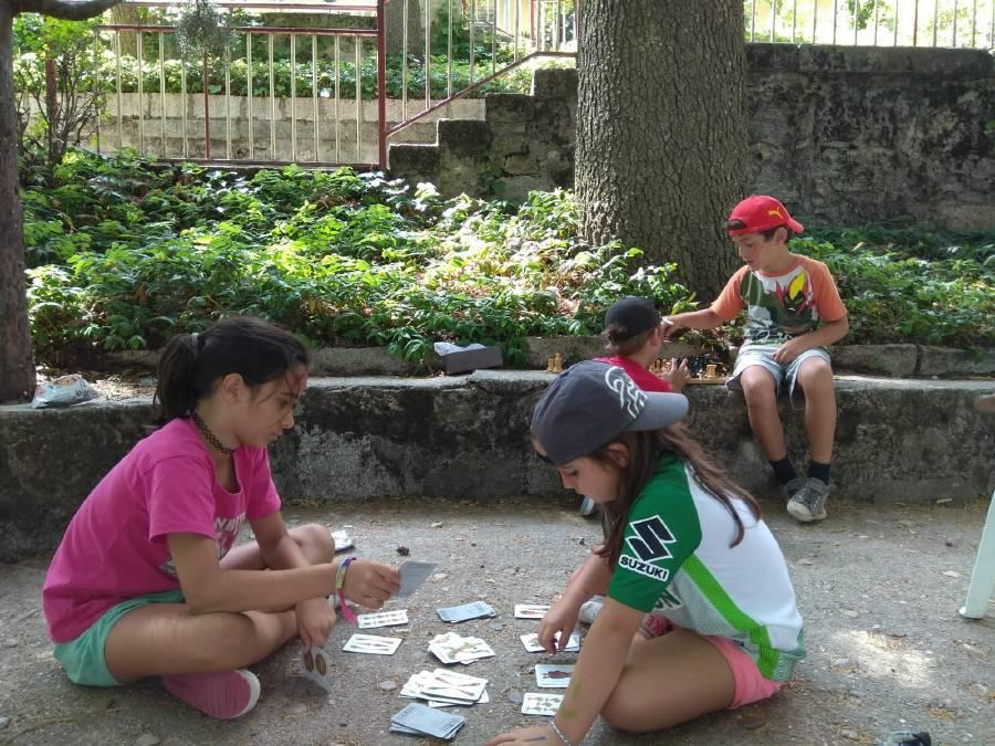 juegos de mesa en campamento