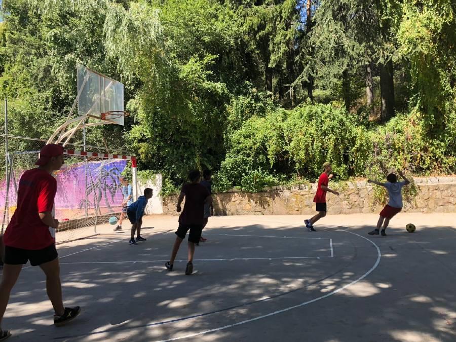 deportes en el campamento
