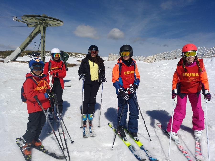 curso de esqui en la sierra de MAdrid
