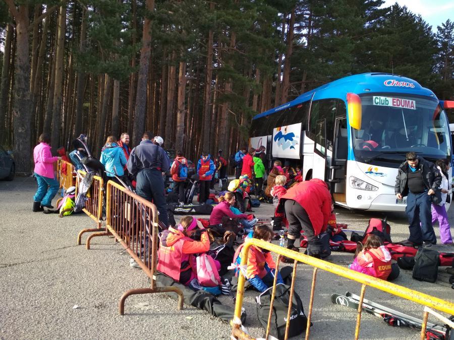 organización desde madrid en los cursillo de ski