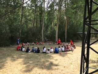 Grupo niños. Campamento de verano julio