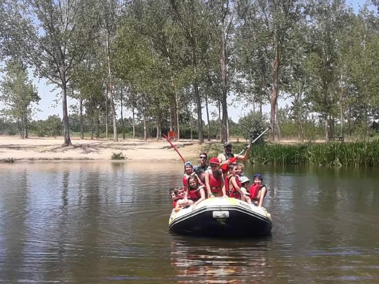 descenso en balsa por el rio tormes