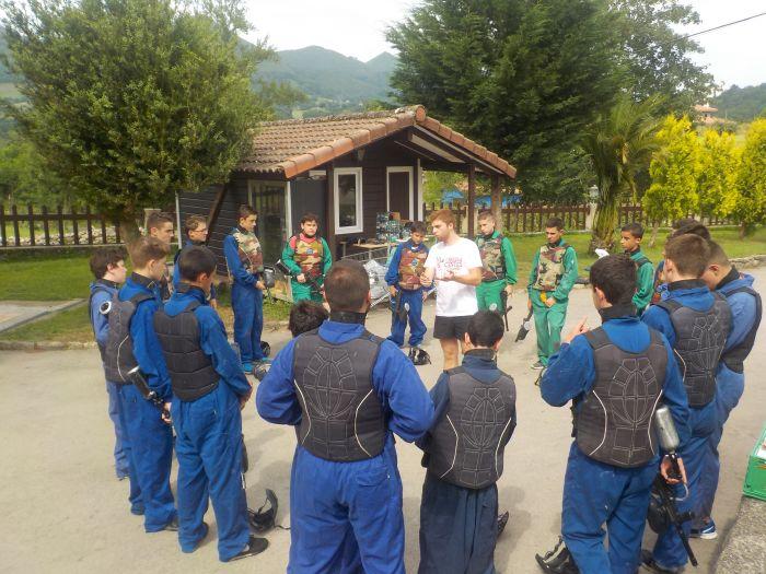 Paintball. Diario campamento multiaventura Asturias 2019